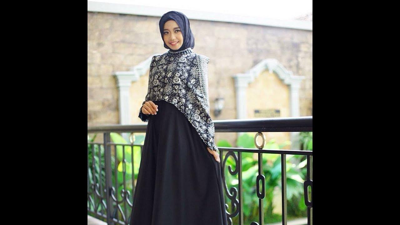 Gamis Batik Kombinasi yang Sangat Populer dan Terbaru