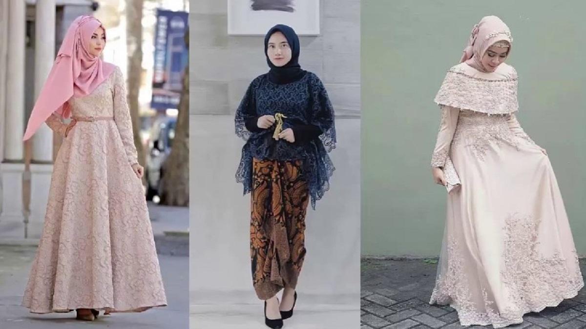 Gamis Brokat Kombinasi Batik Yang Sedang populer