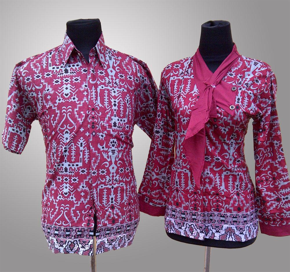 baju batik wanita kantor elegan